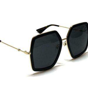 Brand New GUCCI Gold/Grey Sunglasses